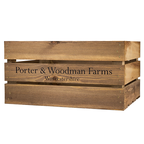 Farm Printed Large Wooden Crate