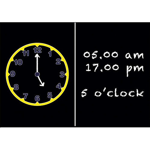Kids' Clock Chalkboard