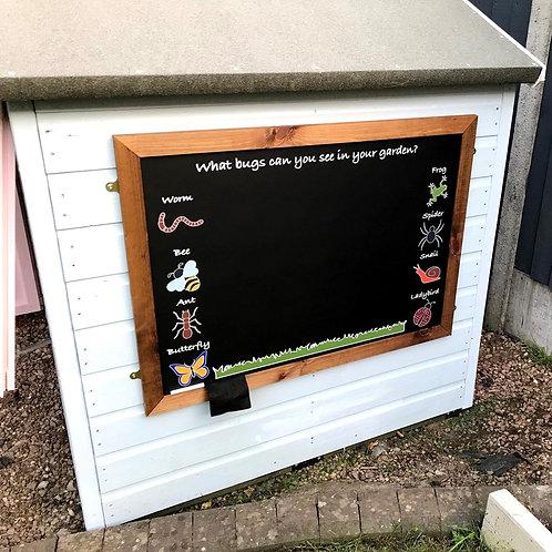Large Kids Garden Chalkboard - Creepy Crawlies