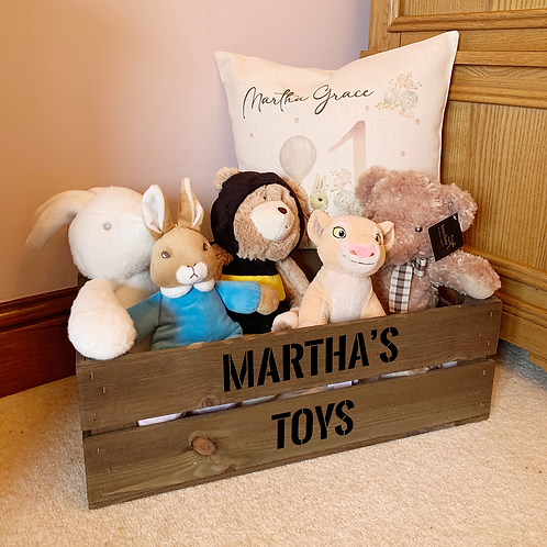 Personalised Wooden Storage Crates