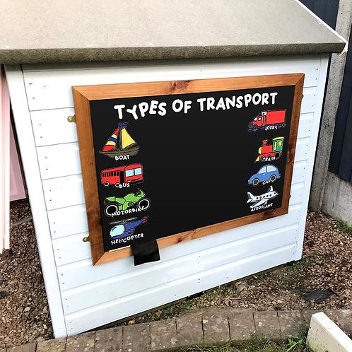 Large Kids Chalkboard - Transport