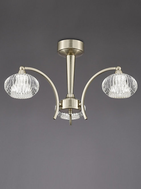 RIVER 3lt Semi-Flush Ceiling Light