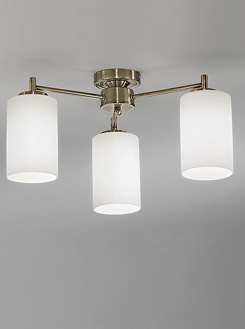 DAWN 3lt Semi-Flush Ceiling Light