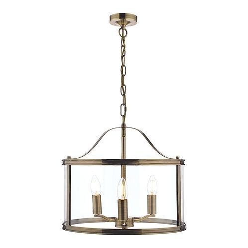 Laura Ashley Harrington Antique Brass 3 Light Lantern Ceiling Light