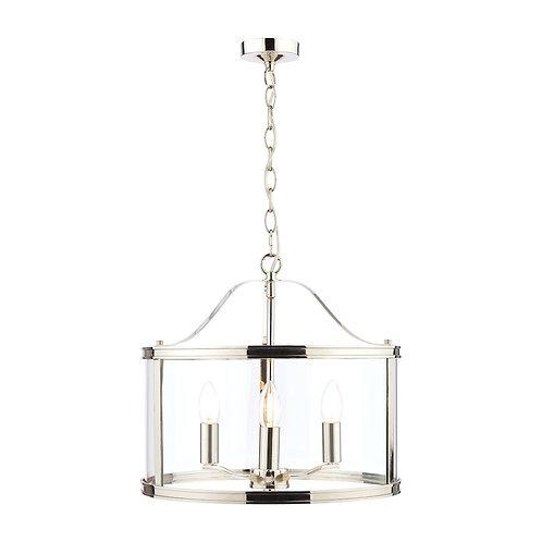 Laura Ashley Harrington Polished Nickel 3 Light Lantern Ceiling Light