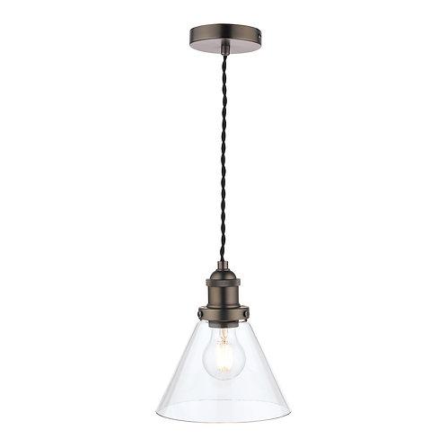 Laura Ashley Isaac Industrial Nickel 1 Light Pendant Ceiling Light