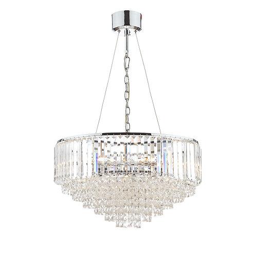 Laura Ashley Vienna Crystal & Polished Chrome 9 Light Chandelier