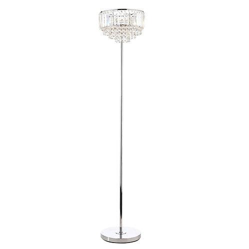 Laura Ashley Vienna Crystal & Polished Chrome 3 Light Floor Lamp