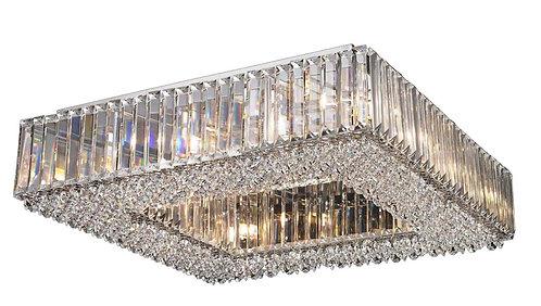 CHERISH 12lt Square Semi-Flush Ceiling Light