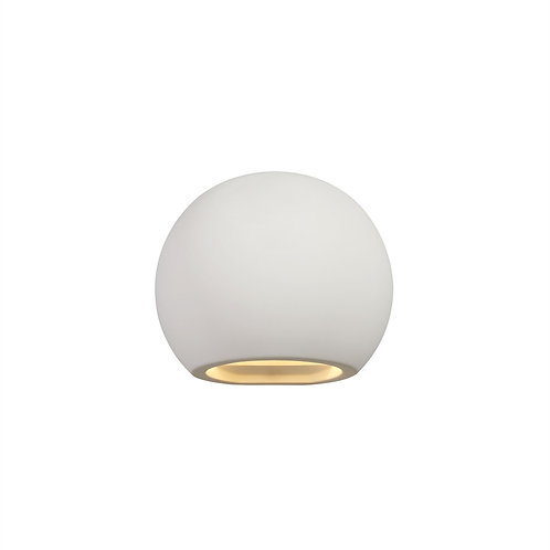 SEB Paintable Round Wall Light