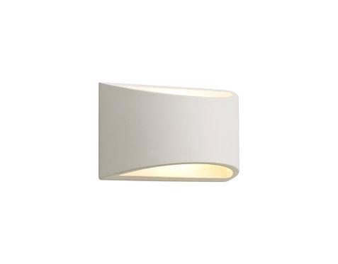 SEB Paintable Rectangular Wall Light