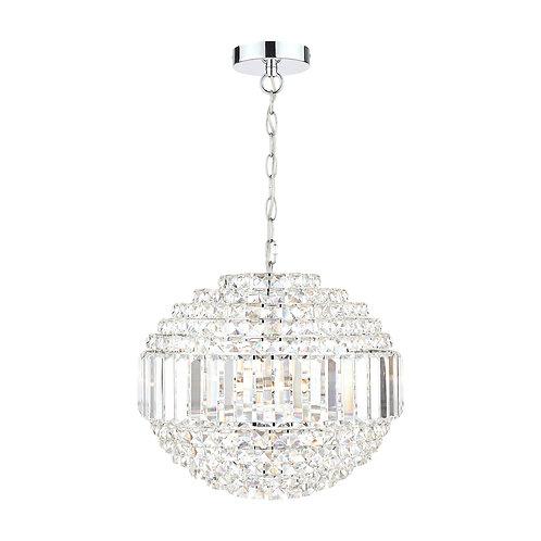 Laura Ashley Vienna Crystal & Polished Chrome 5 Light Orb Chandelier