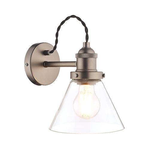 Laura Ashley Isaac Industrial Nickel 1 Light Wall Light