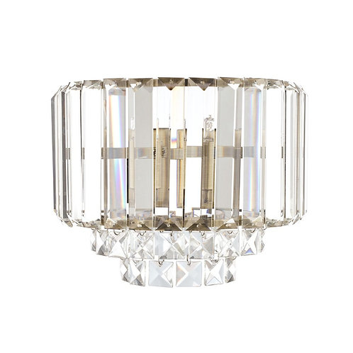 Laura Ashley Vienna Crystal & Antique Brass Wall Light