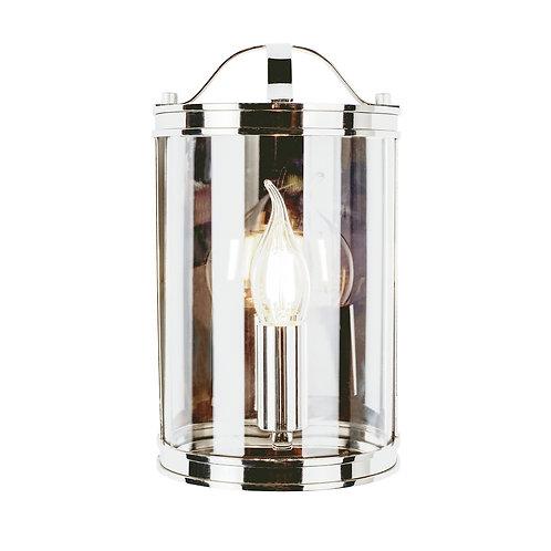 Laura Ashley Harrington Wall Light Polished Nickel Glass