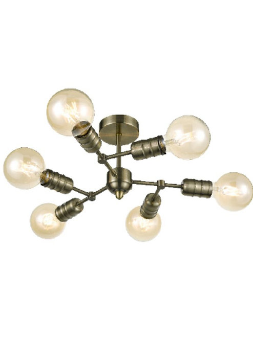 IMPERIAL 6lt Semi-Flush Ceiling Light