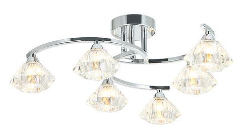 LEXI 6lt Semi-Flush Ceiling Light