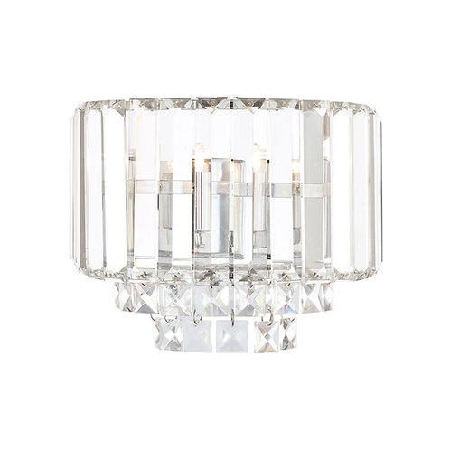 Laura Ashley Vienna Crystal & Polished Chrome Wall Light