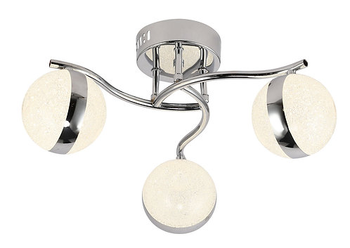 GLOBE 3lt Semi-Flush Ceiling Light