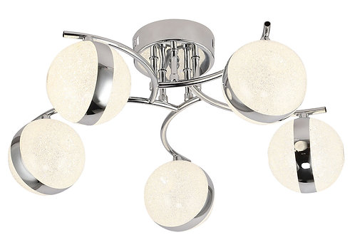 GLOBE 5lt Semi-Flush Ceiling Light