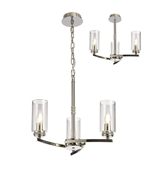 FLUTE 3lt Pendant/Semi-Flush Ceiling Light