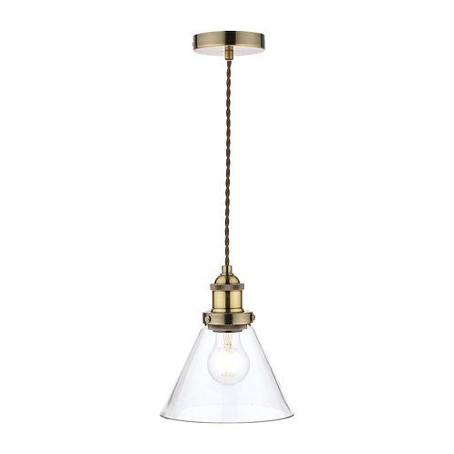 Laura Ashley Isaac Antique Brass 1 Light Pendant Ceiling Light