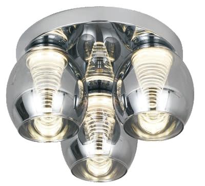 CONICAL 3lt Semi-Flush Ceiling Light