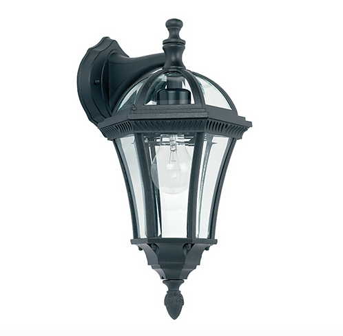 Traditional Black Outdoor Wall Light