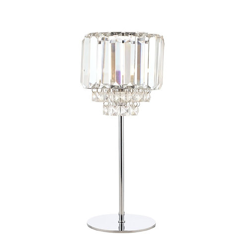 Laura Ashley Vienna Crystal & Polished Chrome Table Lamp