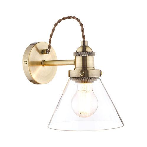 Laura Ashley Isaac Antique Brass 1 Light Wall Light