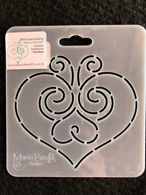 Stencil Bloco Coração