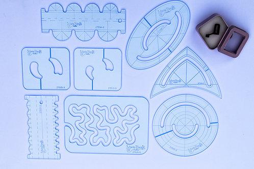 Kit 8 Réguas Micro + Pé de Quilting Micro Maquina Doméstica