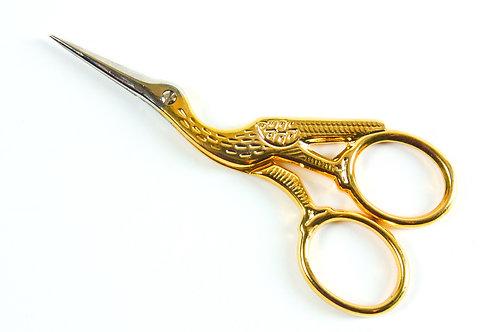Tesoura Cegonha Dourada