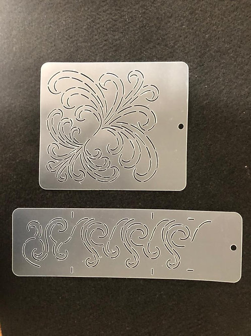 Stencil Kit Plumas - Arabesco