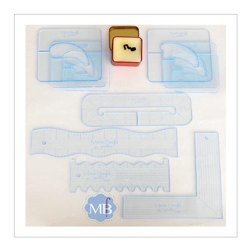 Kit 10 Réguas Marcia Baraldi® + Pé de Quilting®, para Maquinas Domésticas