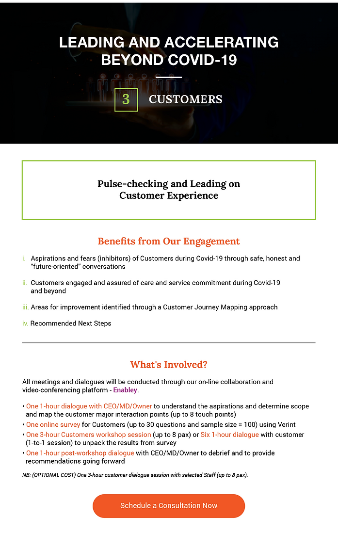 Leading and Accelerating beyond COVID-19 for Customers banner aAdvantage Consulting