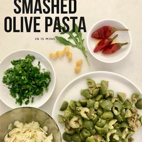 Smashed Olive Pasta