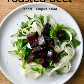 Fennel & Arugula Salad with Roasted Red Beets