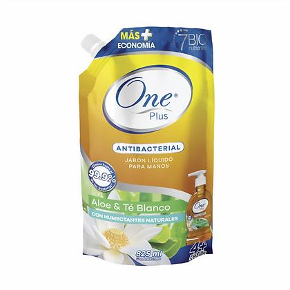 Jabón Líquido Antibacterial Aloe & Té Blanco