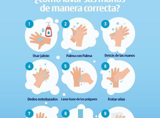 ¡Conozca la forma correcta de lavarnos las manos y así evitar la propagación de #Coronavirus! La pre