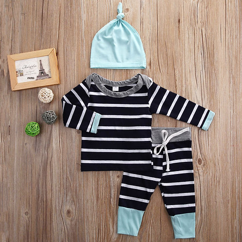 Baby boy striped outfit