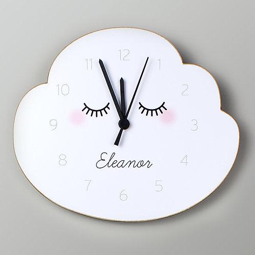 Personalised Sleepy Cloud Clock