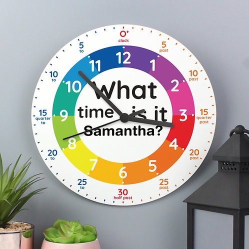 Personalised Tell the Time Clock