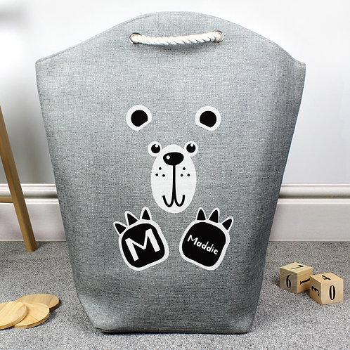 Personalised Bear Toy Storage