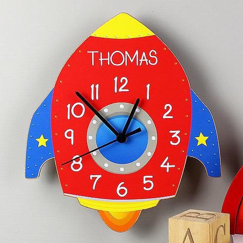 Personalised Rocket Clock