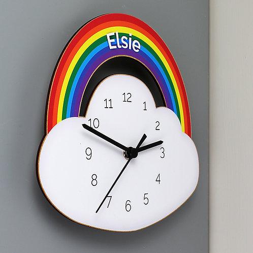 Personalised Rainbow Clock