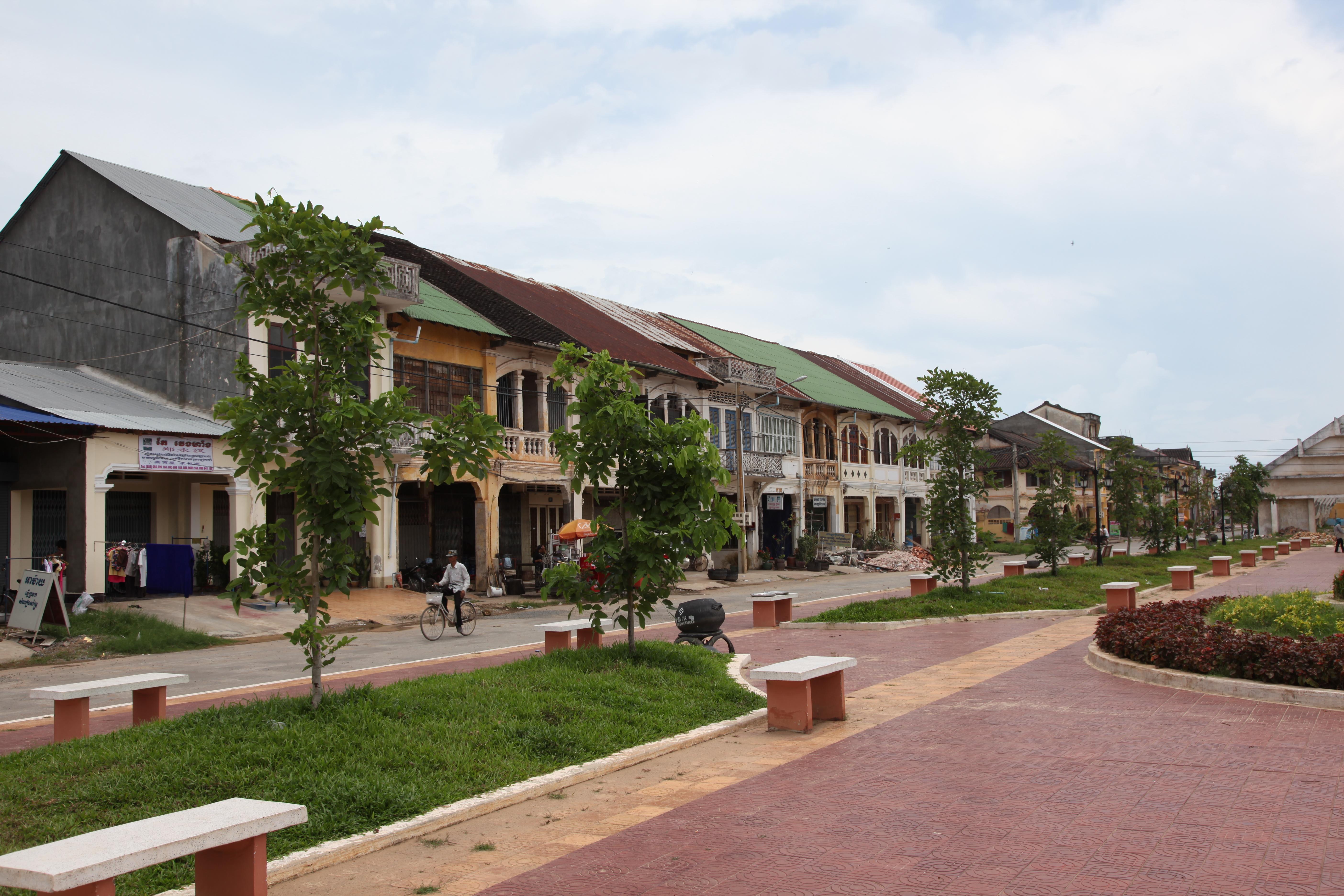 A-main-street-in-kampot