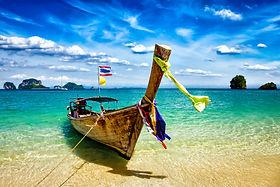 Thai fishing boat on beach