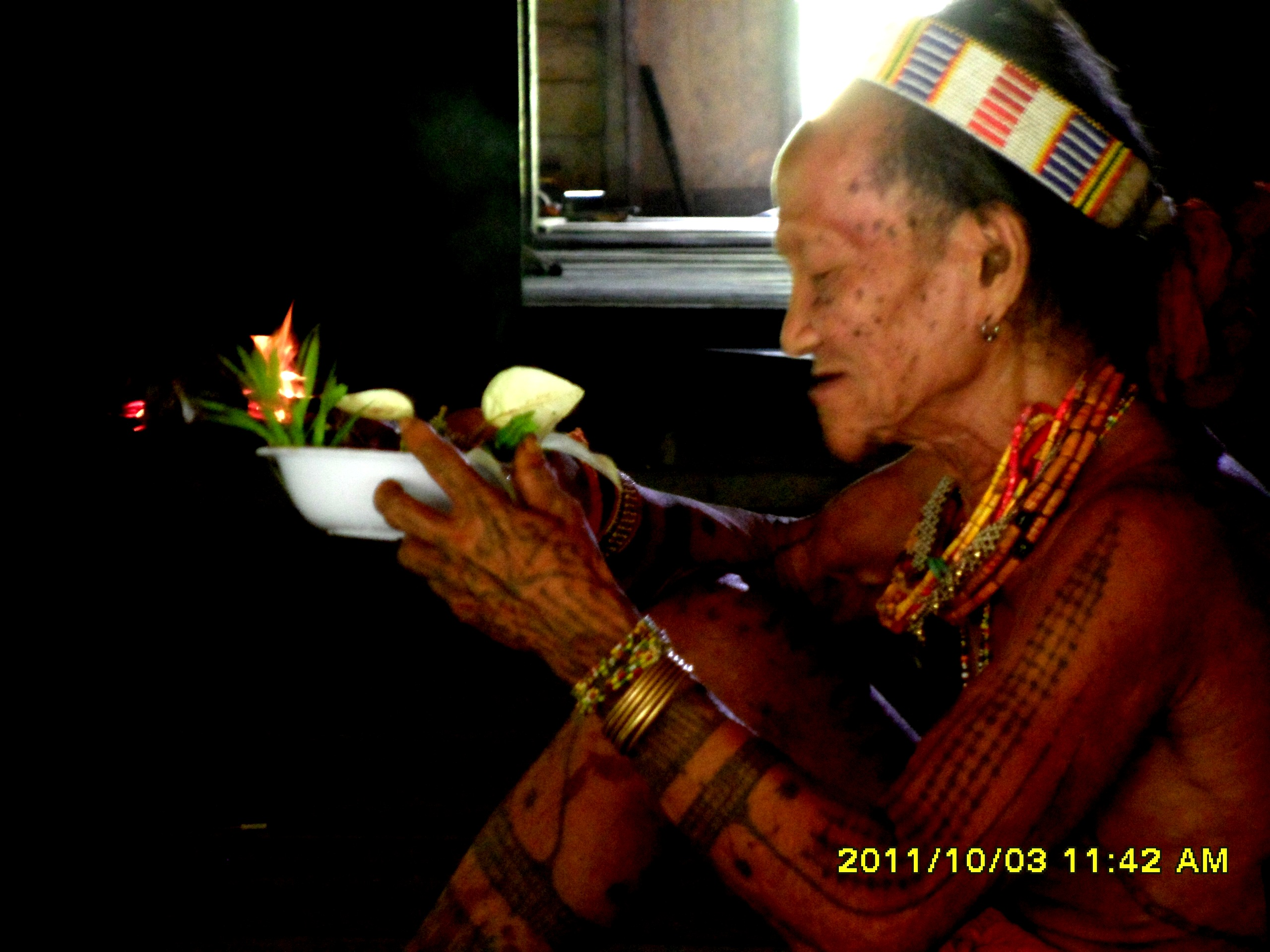 Mentawai Tribe 8 Shamman Preparing Offering
