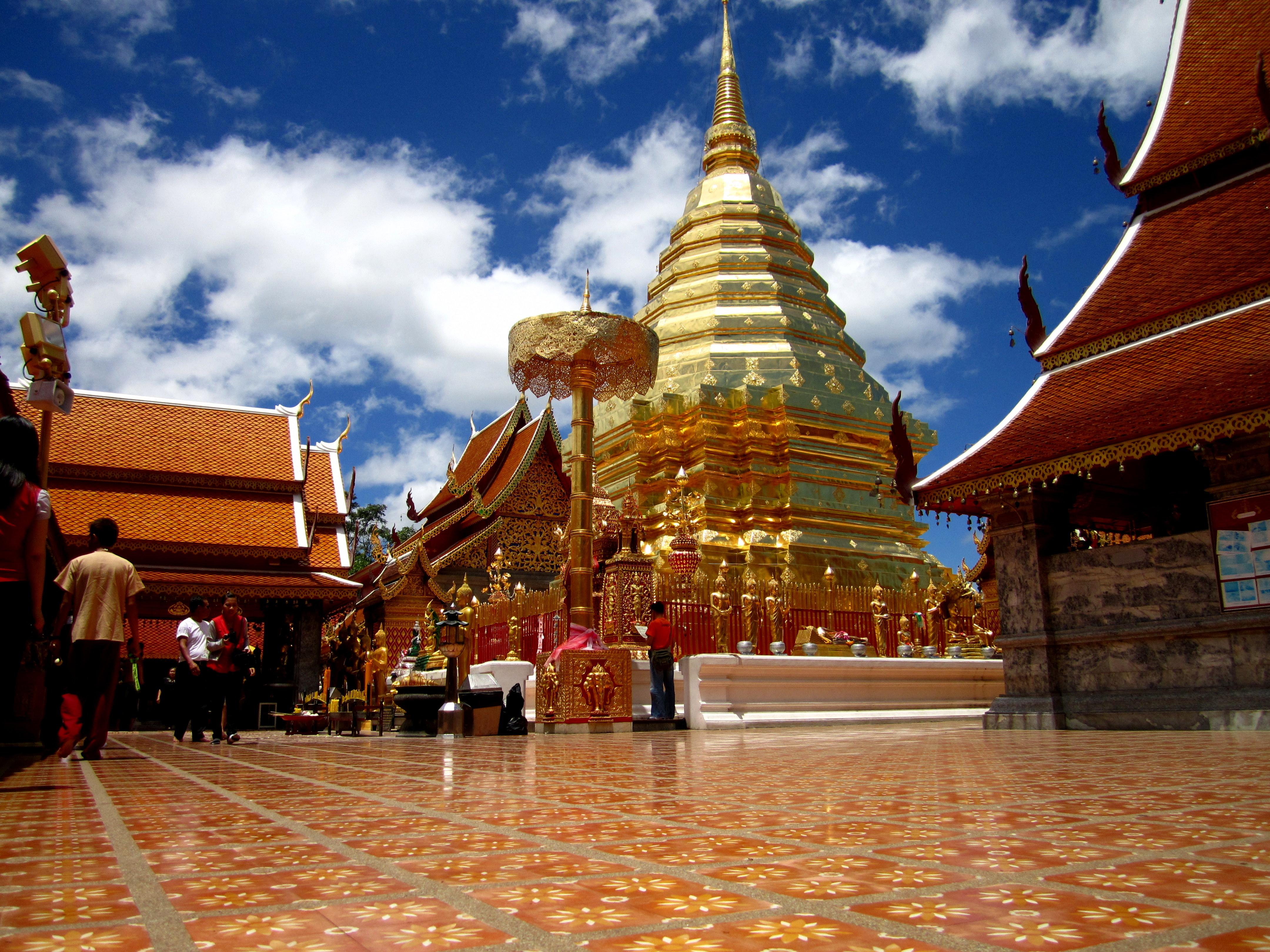 Monk Blessing At Doi Suthep18